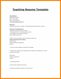 Sample Career Objective For Teachers Resume 100 cv format for freshers teachers prome so banko 64
