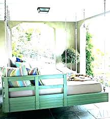 hanging bed swing swings outdoor porch for e kit round diy daybed beds swinging hang