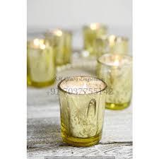 gold mercury glass votive holders