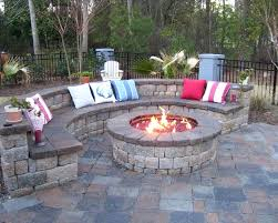 patio ideas backyard landscape and patio design with outdoor fireplace ideas also curved stone bench