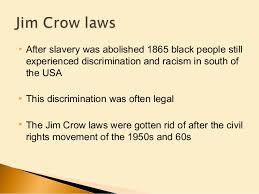 ppt jim crow laws