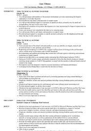 Resume For Experienced Technical Support Engineer Tech Objective