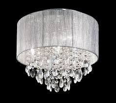 franklite royale 4 lamp small flush mount crystal ceiling light