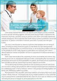 Outstanding Family Medicine Residency Personal Statement
