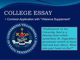 villanova university 8 college essay