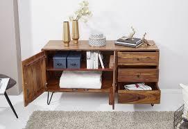 Wohnling Sideboard 140 Cm Wl5629 Aus Scheesham Massivholz
