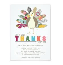Thanksgiving Invites Colorful Turkey Thanksgiving Party Invitation Shop