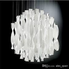 various white modern chandelier in bilbao gloss with silver leaf scenario home