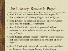 achimore academics literary research paper the first steps literary research paper the first 7 steps