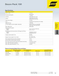 Purox 4202 Cutting Tip Chart Esab Welding Catalog Pages 101 150 Text Version Fliphtml5