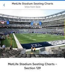 Ed Sheeran Metlife Stadium Seating Chart 2 Tickets Ed Sheeran Metlife Stadium 9 22 At 7pm Nj Section
