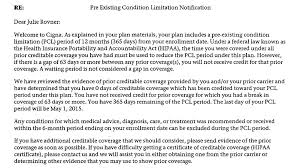 Proof Of Health Insurance Coverage Letter
