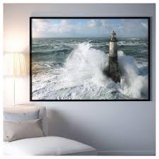 Picture And Frame Björksta Ar Men Lighthouse Black Art Frame