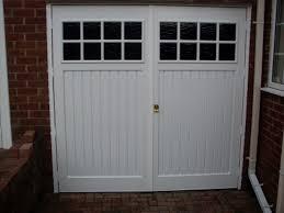 side hinged garage doors windows