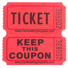 2 part raffle tickets carnival king red 2 part raffle tickets 2000 roll