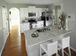 White Kitchen With Granite White Kitchen Cabinets With Gray Granite Countertops Inspiration