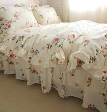 erfly meadow fl bedding set elegant french country style vintage ruffles duvet cover bed with lace fl bedding sets