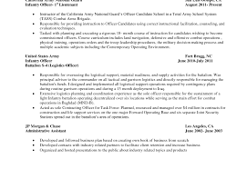 Military To Civilian Resume Builder Army Translator Jobs Objective
