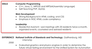 Examples Of Resumes Skills Examples Of Resumes