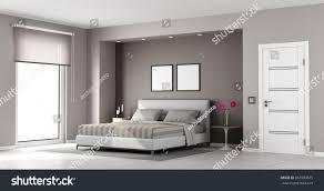 Minimalist Master Bedroom Double Bedclosed Door Stock Illustration  667900675   Shutterstock