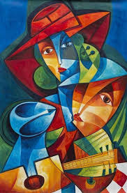 art beat cuban art paintings on canvas acrylics woman black people pintura charts canvas paintings