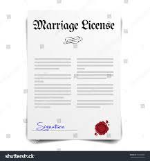 Detailed Illustration Marriage License Letter Eps10 Stock Vector