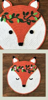 ladybug rug ladybug rugs nursery new crochet rug pattern crochet fox woodland fox rug pattern of ladybug rugs