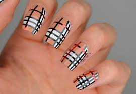 NAILS | Striping Tape Burberry Nail Art #CBBNov | Cosmetic Proof ...