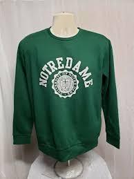 Atc Clothing Size Chart University Of Notre Dame Womens Large Green Sweatshirt