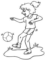 Ragazza Che Gioca A Calcio Immegini Per Bambini Disegni Da