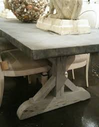 images zinc table top: zinc topped table  zinc topped table