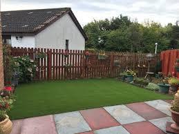 artificial grass lawn installation jacklin green livingston