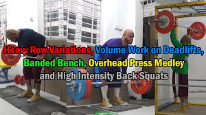 Rows Deadlifts Banded Bench Overhead Press U0026 Squats  YouTubeSquat Bench Deadlift Overhead Press