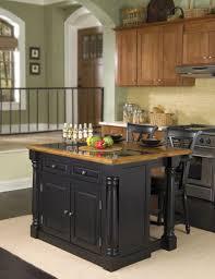 small kitchen island. Small Kitchen Island Wood Table Appealing Narrow Black Chair Double Stove Cabinet Doors Knobs Ceramic Tile Backsplash Jars Bottle Bowl Plate Dark S