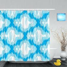 moroccan shower curtain personalized distressed bathroom curtains abstract pattern decor waterproof polyester fabric hook target