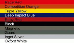 2012 Mustang Color Chart 2015 Ford Mustang Colors Revealed Yellow Returns Mustang