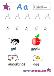 Preschool Letter Worksheets | guruparents