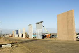 views of diffe border wall prototypes as they take shape near the otay mesa port of