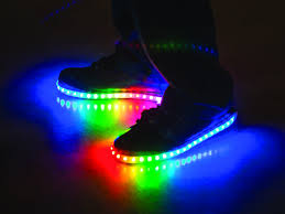 Light Up Roshes Luminous Lowtops Glow Shoes Light Up Shoes Rainbow Shoes