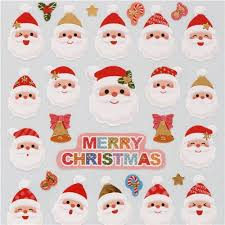 santa claus face images.  Claus Cute Christmas Santa Claus Face Bell Stickers With Gold Metallic From Japan Throughout Face Images C