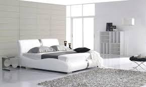 white modern master bedroom. Modern Master Bedroom With Upholstered Platform Bed White Floor Lamp . O