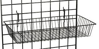 gridwall metal basket hanging