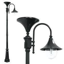 solar lamp and post lamp post with gs solar light bulb black gama sonic victorian double solar lamp and post