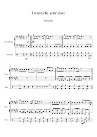 I wanna be your slave Sheet music for Piano, Drum Group (Mixed Duet)