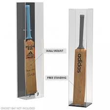 Cricket Bat Display Stand Simple Acrylic Display Case Cricket Bat Wall Mounted