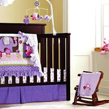 owl baby crib set 8 piece cotton baby crib bedding set quality purple owl newborn baby girl cotton cot nursery bedding in bedding sets from mother kids on