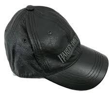 harley davidson size l large 100 genuine leather cap biker baseball hat black