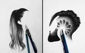 00 dhruvmignon minimalist realistic hair study drawings