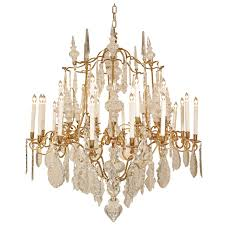 french 19th century louis xv style ormolu and baccarat crystal chandelier for