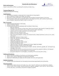 Cna Job Duties Resume Job Description For Nurses Resume How To Write Resume Job 13